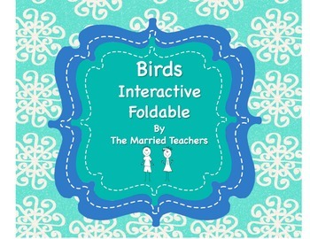 Vertebrates: Birds Science Interactive Foldable