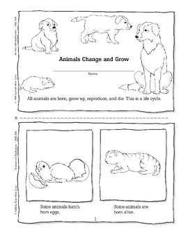 Vertebrates Change as They Grow: Minibook