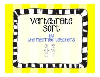 Vertebrates Cut and Paste Sort Activity