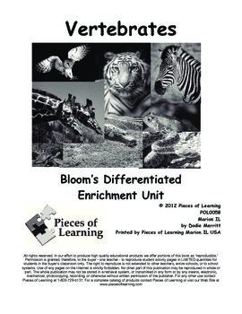Vertebrates - Differentiated Blooms Enrichment Unit