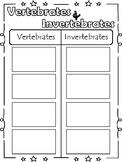 Vertebrates & Invertebrates Sort