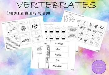 Vertebrates - Mammals, Fish, Reptiles, Birds and Amphibians.ACTIVITY NOTEBOOK