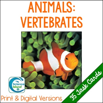Vertebrates Task Cards with PowerPoint Review