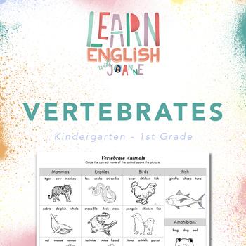 Vertebrates - Worksheet for Kindergarten-1st Grade