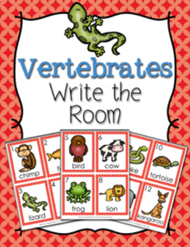 Vertebrates Write the Room Activity