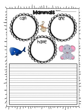 Vertebrates Writing- Can, Have, Are
