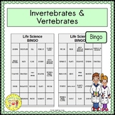 Vertebrates and Invertebrates BINGO