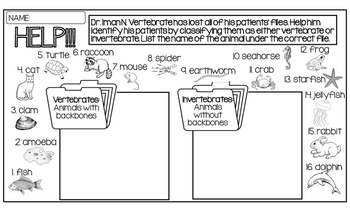 Vertebrate Invertebrate Classification