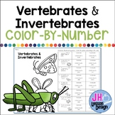 Vertebrates and Invertebrates Color-By-Number