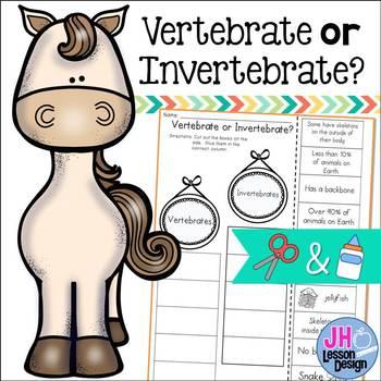 Vertebrates and Invertebrates Cut and Paste Activity