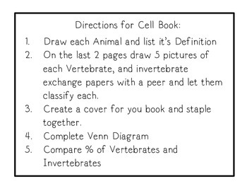 Vertebrates and Invertebrates Flip Book