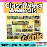 Vertebrates and Invertebrates Game: Animal Classification Life Science Activity