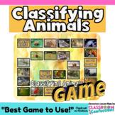 Vertebrates and Invertebrates Game: Animal Classification Life Science Activity