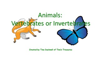 Vertebrates and Invertebrates Interactive Notebook Activity