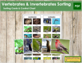 Vertebrates and Invertebrates: Sorting Cards