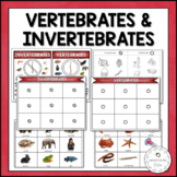 Vertebrates and Invertebrates Sorting | Nature Curriculum