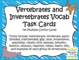 Vertebrates and Invertebrates Task Cards