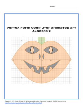 Vertex Form Computer Animated Art