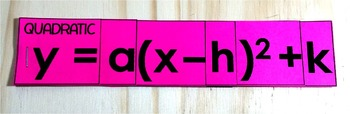 Vertex Form Reference Flippables