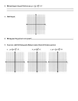 Vertex Form Quadratics Investigation