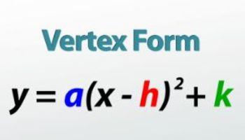 Vertex Form Worksheet (10 Q)
