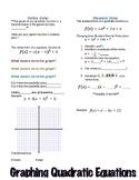 Vertex and Standard Form of Quadratics Foldable