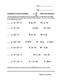 Vertex of a Parabola Puzzle Decode Worksheet: You be the D