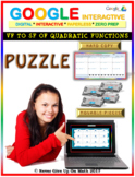 Vertex to Standard Form of Quadratic Function (Google Interactive & Hard Copy)