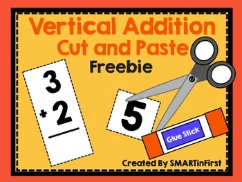 Vertical Addition Cut and Paste Freebie