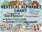 Vertical Alphabet Poster - Compatible with Zoo Phonics