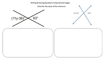 Vertical Angles - Google Form & Video Lesson with Notes