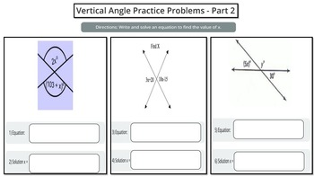 Vertical Angles (Includes PowerPoint lesson and Printables!)