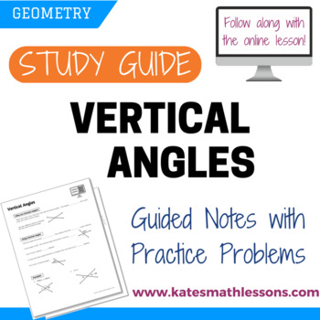Vertical Angles Study Guide