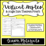 Vertical Angles and Angle Sum Theorem Proofs Lesson Materi