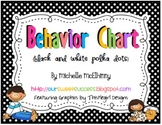 Vertical Behavior Chart {Black and White Polka Dots}