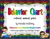 Vertical Behavior Chart {Colored Animal Print w/Kids}