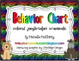Vertical Behavior Chart {Colored Jungle/Safari w/Animals}