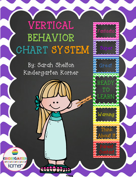 Vertical Behavior Chart System- Chalkboard