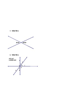 Vertical, Complementary and Supplementary Angles