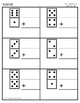 Vertical Domino Addition Practice 20 Worksheets + 20 Answer Keys