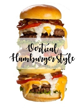 Vertical Hamburger Poster