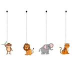 Vertical Line Tracing with Zoo Animals