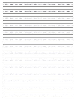 Vertical Lined Writing Paper, Various Sizes