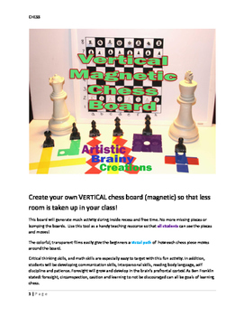 Vertical Magnetic CHESS: Critical Thinking Skills & Math