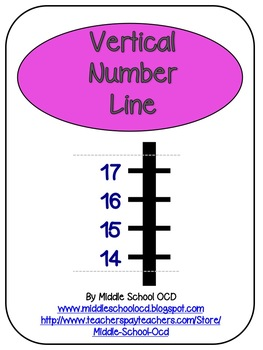 Vertical Number Line