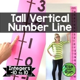Vertical Number Line of Integers for Classroom Wall
