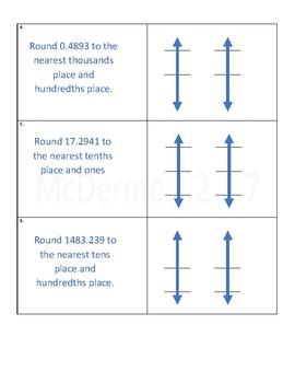 Vertical Number Line Rounding Practice Worksheet 3