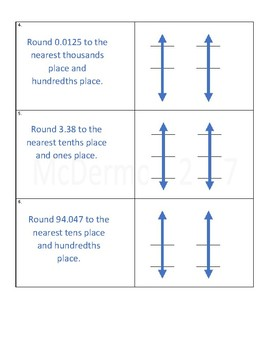 Vertical Number Line Rounding Practice Worksheet 5