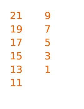 Vertical Number Lines