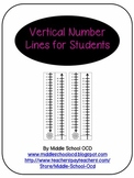 Vertical Number Lines for Students